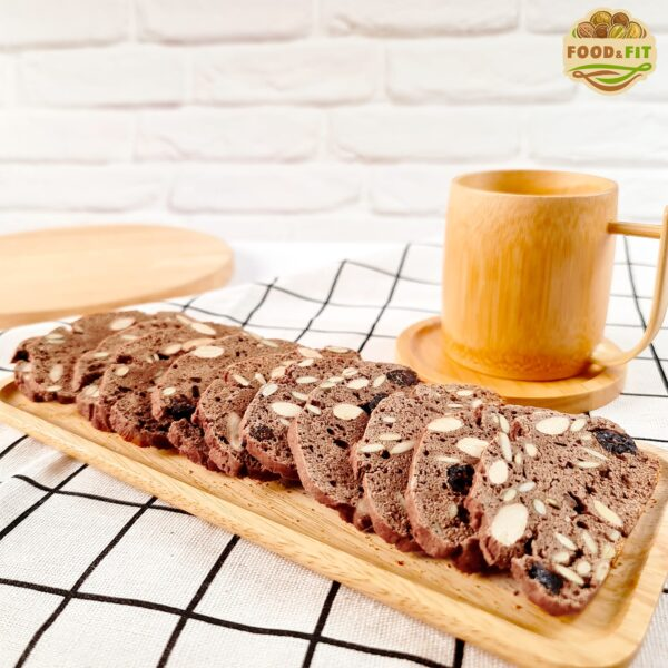 bánh biscotti vị cacao Food&Fit